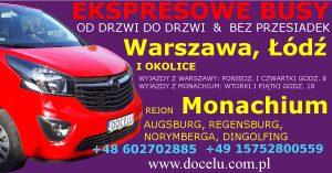busy DOCELU Warszawa Łódź Monachium